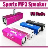 Sports MP3 Player Mini Mobile Music Speaker Portable Sound box Boombox with TF Card reader USB + FM Radio