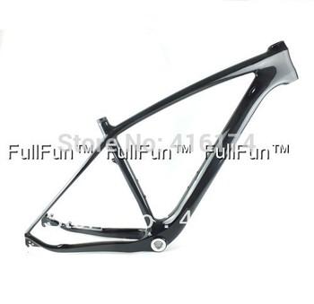 FULLFUN Carbon Frame 29 er 15.5''/17.5''/19''/21'' Mountain Bike Full Carbon Frame 3K Glossy 31.6mm BB30/BSA 29'' 1-1/8'' 1-1/2'