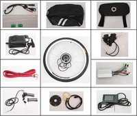 Free shipping! 2013 New Style 48V 250W Front Wheel Ebike Conversion Kitswith LCD Display.