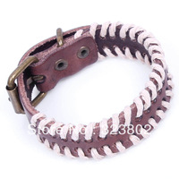 Hot Sale Retro Style Leather Bracelet or Wristband Genuine Cowhide by Handmade