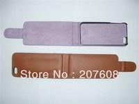 Flip Leather Case for iPhone 5, various Colors,100pcs/lot