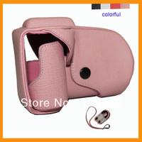colorful digital camera Leather Case/Bag/Cover pen head for sony nex5 (long lens) Manfacturer