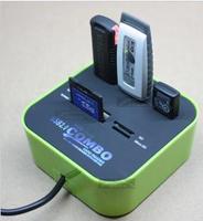 Adapter for micro sd/mmc to leitor de cartao de memoria usb read card micro usb otg tf multi 64gb wifi card reader writer black