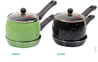 2 PCS  MILK PAN & FRY PAN BOTH WORK ON THE GAS STOVE & INDUCTION COOKER -DOUBLE USAGE