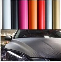 High Quality 3D Carbon Fiber Vinyl Car Wrapping Foil 1.52*0.5M,Carbon Fiber Car Decoration Sticker,Many Color Option