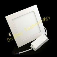 Free Shipping 2pcs/Lot 16W Square Led Panel Light Ceiling Light 1440lm Super Bright Warm White Light AC85-265V