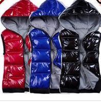 Child down cotton vest male child female child glossy shiny reversible cotton vest