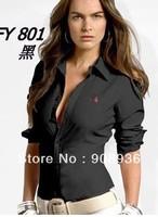 women Shirt long sleeve popular  T-Shirt gril Casual Shirts Free Shipping hongkong post