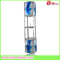Free Shipping!! BLM-1302 spiral showcase portable display rack promotion counter