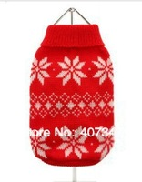 Free Shipping!  Christmas Flake  dog sweater,Wholesale 12 pcs 5 size mixed