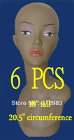 "6PCS-18"" Tall PVC rubber mannequin manikin styrofoam head display wig/necklace/cap/hat PYED"