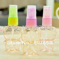 freeshipping 24pcs lovely bear 30ml spray bottle Cartoon Empty Plastic Perfume Transparent Atomizer Spray Bottle
