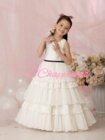 Free Shipping Floor Length Flower Girl Dresses Kids first communion dress