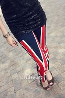 New sexy women nine points Leggings British Union Jack Leggings Stretch Slim Tights free shipping