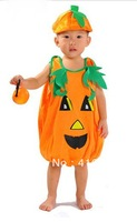 Halloween Child Costume pumpkin clothes masquerade costume lovely