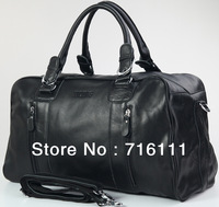 Free shipping Large capacity of business and leisure leather bag shoulder hand luggage bag 1024