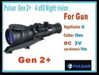 High quality Yukon(pulsar) phantom 4*60 Gen 2+ Night visionSupport 700M , Riflescope/Hunting Scope/Thermal scope