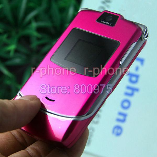 Original Motorola Razr V3 Mobile Phone Unlocked English Arabic Russian Keyboard(China (Mainland))