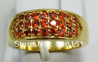 Free Shipping Wholesale and Retail Excellent Ruby Rings in 14 Kt Yellow Gilding #8