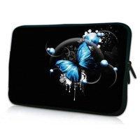 """7"""" Blue Butterfy Neoprene Case Sleeve Cover Bag Holder Case Cover for HP Slate 7 Tablet PC"""
