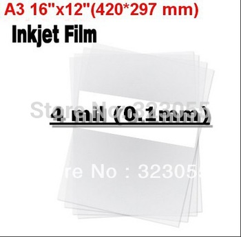 """100 sheets A3 16""""x12""""(420*297 mm) Screen Printing Transparency Inkjet Laser Printer Film PCB Exposure Positive Plate Making"""