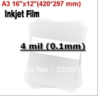"100 sheets A3 16""x12""(420*297 mm) Screen Printing Transparency Inkjet Laser Printer Film PCB Exposure Positive Plate Making"