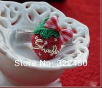 50pcs/Lot Children Baby Girl's Elastic Hair Rope&HairClips Strawberry Hair Rings scrunchy for Girls New Years Gift