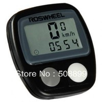 Freeshipping+wholesale Plastics LCD Temperature Display Waterproof Cycling Computers +Dropshipping