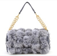 Free shipping New fashion Women ladies rabbit fur bag evening bag sexy purse Handbag tote bag