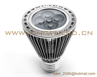 2012 NEW! 20pcs/lot fins cooling par20 5W LED spot light, 500~550LM led lamp, 494cm*2 radiating area spotlight.