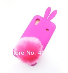100PCS/lot Hot New Bunny Girl Rabbit TPU Skin Soft Back Cover case for Samsung Galaxy Ace S5830 Phone Case(China (Mainland))