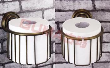 Antique brush bronze copper tissue toilet paper holder round wire basket,bathroom roller holder bath hardware set
