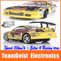 2014 1:14 RC R/C drift car yellow Radio Controlled Cars Four-wheel drive system 4WD Racing Cars Original Package Free Shipping
