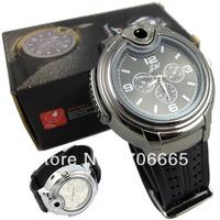 Watch Lighter Quartz Wrist Butane Cigarette Cigar Watch Lighter electric watch lihterlight dial