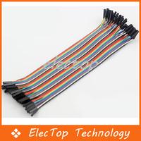 Free shipping 40p Color Dupont Wire Connector Cable 1P-1P 20cm 100pcs/lot Wholesale