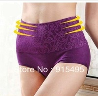 2013 hot selling cotton high waist panties female comfortable breathable abdomen drawing female panties