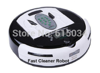 (Free Shipping For EU Buyer)4 In 1 Multifunctional Smart Vacuum Cleaner, LCD Screen,Touch Button,Schedule,Virtual Wall