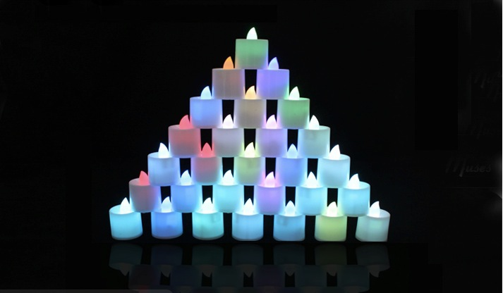 Free shipping LED candle tea light for party, house decoration church bars restaurant dinner light(China (Mainland))