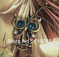 OWL Necklace Sweater Chain Fashion Lovely Vintage Colorful Cute Freeshipping