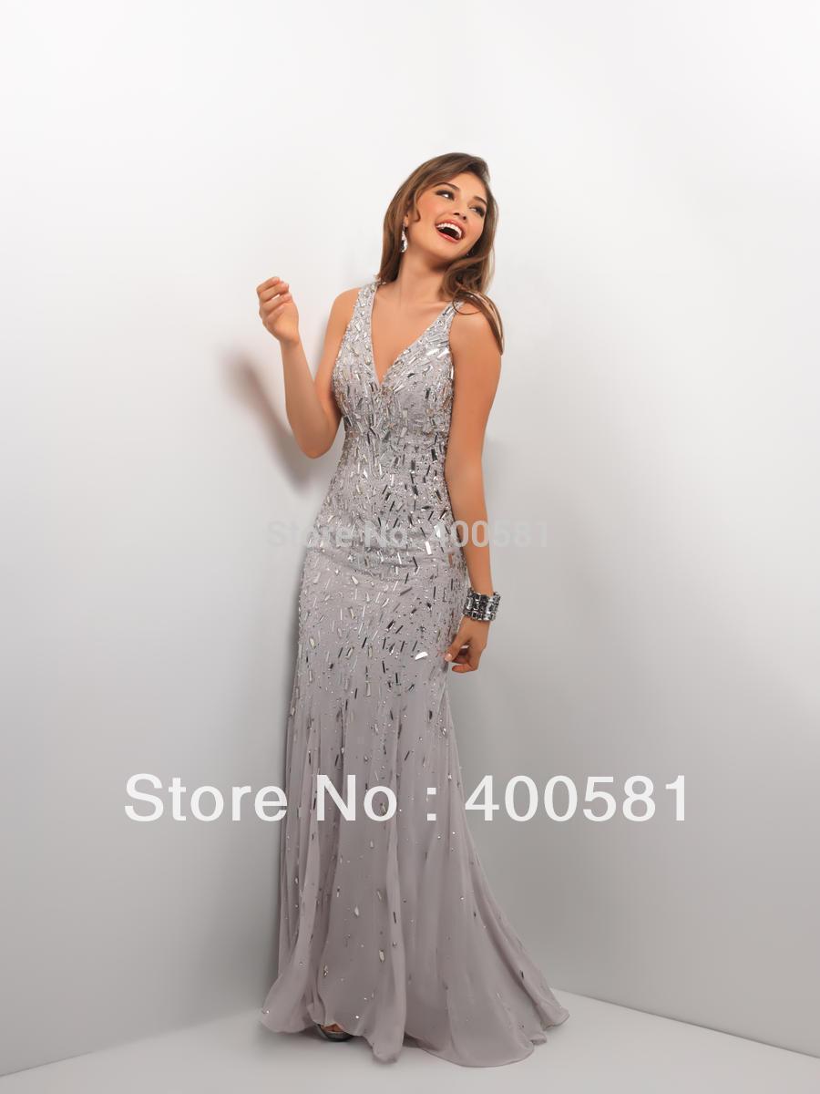 Silver Long Dress
