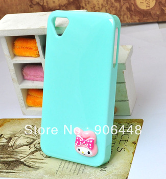 DIY Handmade Cell Phone Case for iphone 4 4s with Triangle Camera Hole and Mallard Many Colors for Option 1PCS