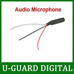 DC Power Wide Range Mic Audio Microphone For CCTV Mic Audio Cameras DVR System- free shipping(China (Mainland))