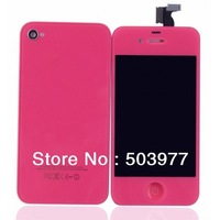 Free Fast Shipping,For  IPHONE4S Rose Red replacement kit full housing,for For IPHONE4S color conversion kit