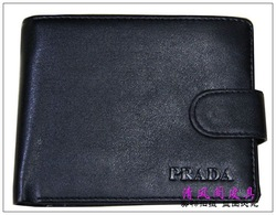 Men's black real leather wallet(China (Mainland))