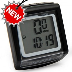 Free shipping (1Pcs/lot) Wholesale Waterproof Bike Bicycle Computer Cyclometer, Speed Meter Odometer With Temperature Display(China (Mainland))