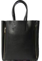 Promotion!100% genuine leather handbag  2013 fashion star  women's handbag cabas vertical shoulder+ tote brack bag