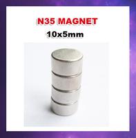 Free shipping 500pcs/lot N35  D10X5  Ndfeb strong magnetic magnet