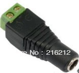 Free shipping    5.5 x 2.1mm CCTV DC Power Female Jack Connector
