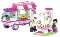 Christmas gift Enlighten Child B0155 Educational Fast food car SLUBAN building block sets diy toy,children toys free Shipping