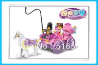 Christmas gift Enlighten Child 0239 Educational Princess carriage SLUBAN building block sets diy toy,children toys free Shipping